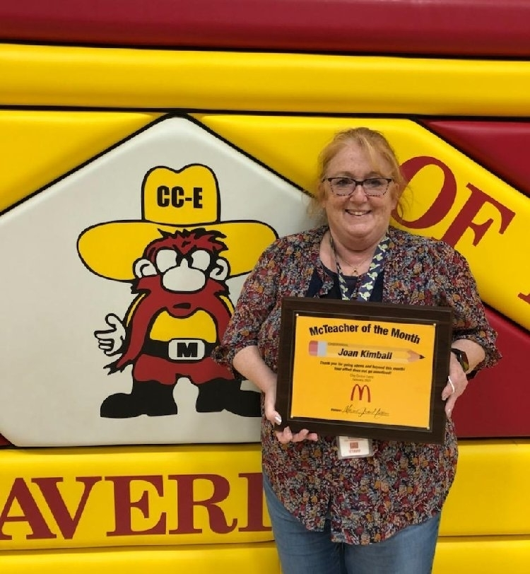 Teacher Awarded with McTeacher of the Month